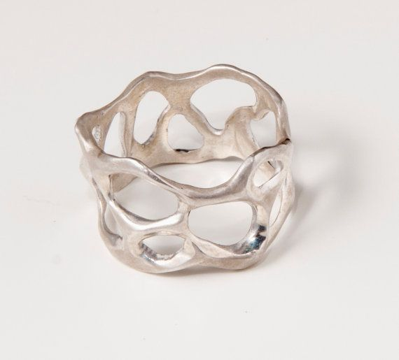 Bio B sterling silver ring by doronmerav on Etsy, $70.00