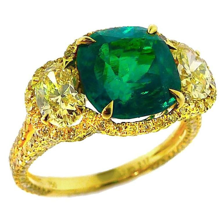 men rafael yellow ring diamond in emerald rings glamira order