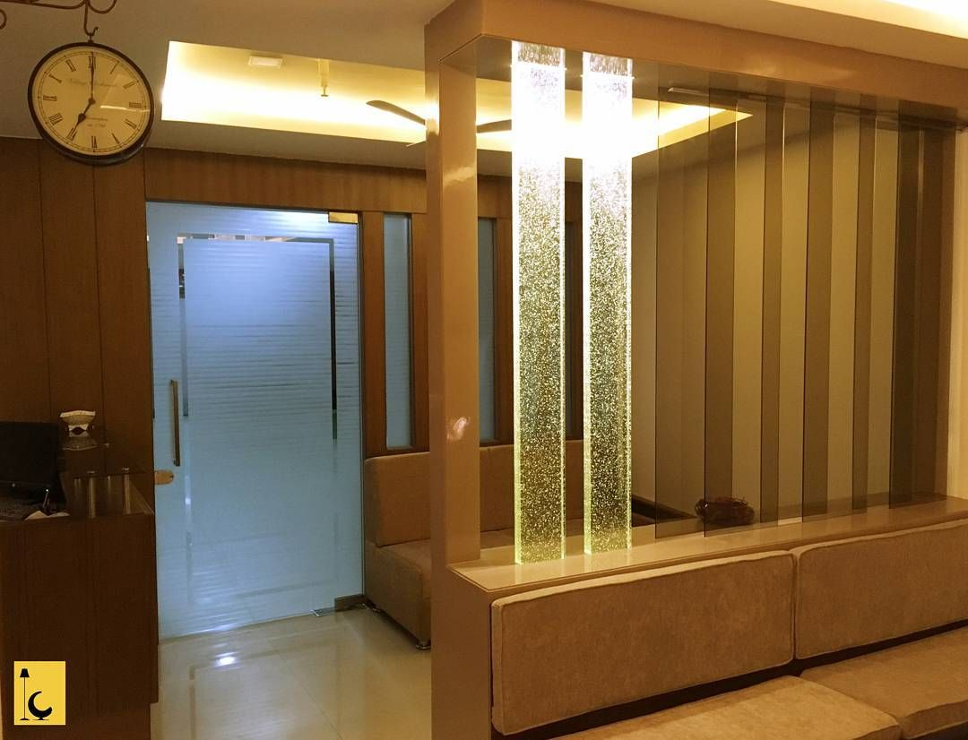 Furniture Design Main Door view from the inside. main door with etched glass design