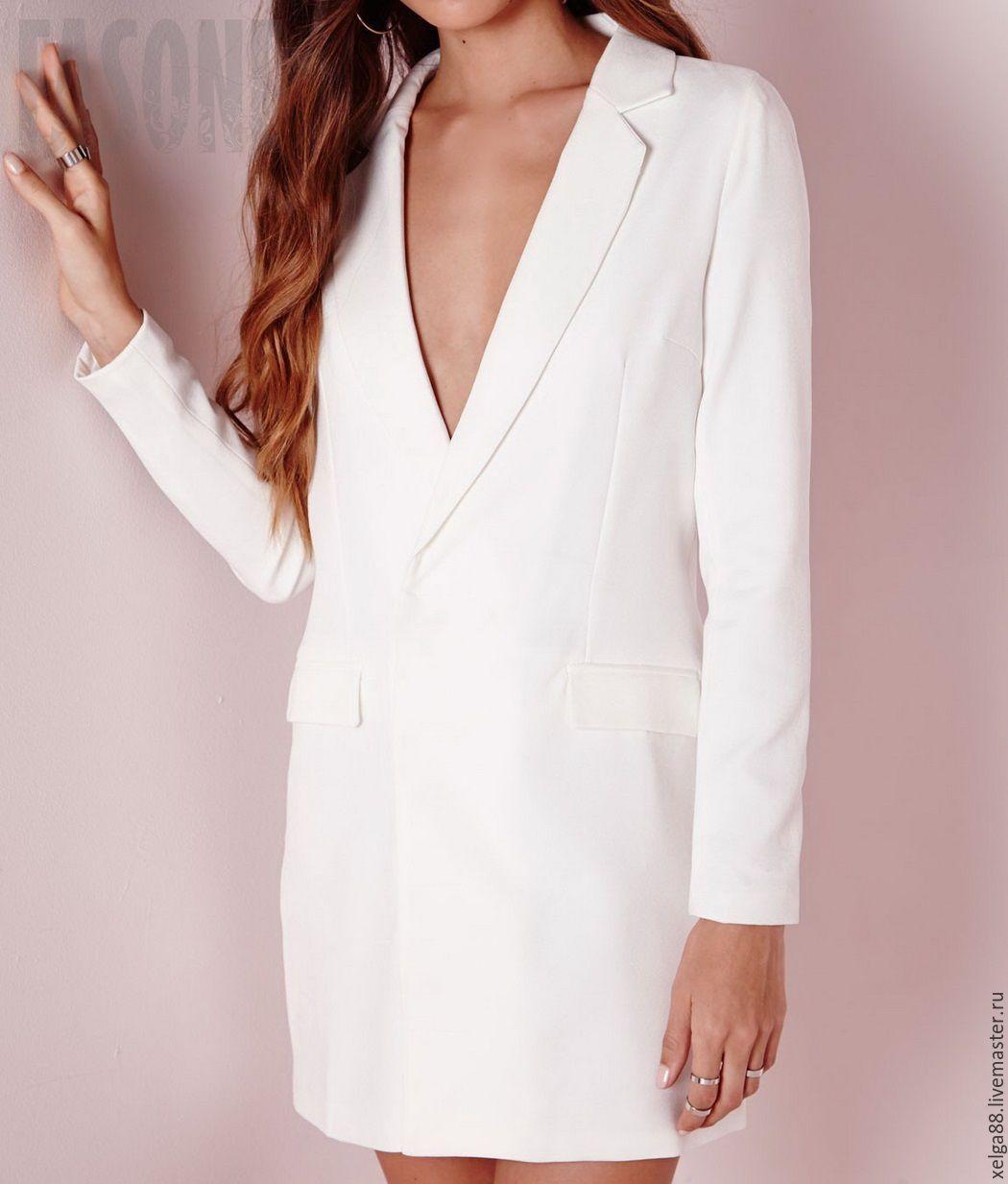 82deddfc189 Купить Платье пиджак белое