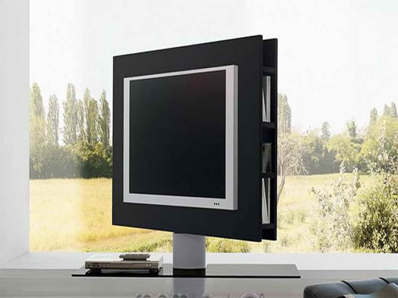 Rotating Television Stand On Room Modtopiastudio Get