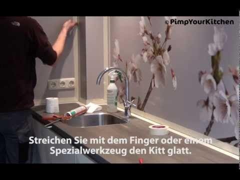 Montage Solid Platte Kuchenruckwand Pimpyourkitchen De Youtube
