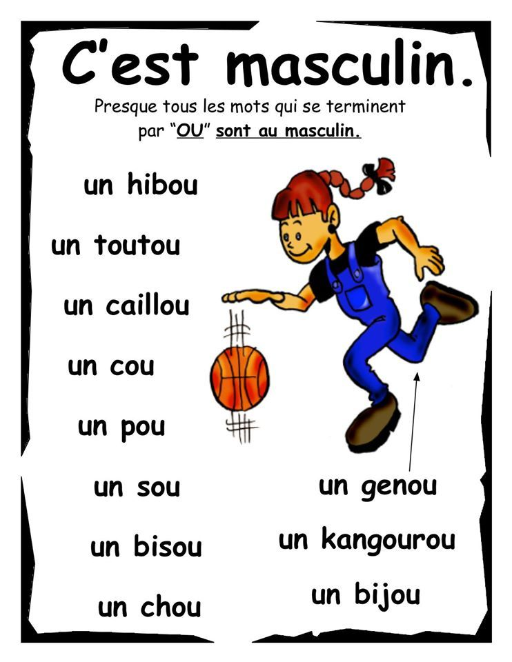 feminin et masculin selon terminaison 12 language learning language learning