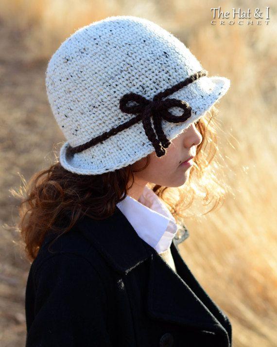 CROCHET PATTERN Cosmopolitan Cloche crochet hat pattern | tejidos ...