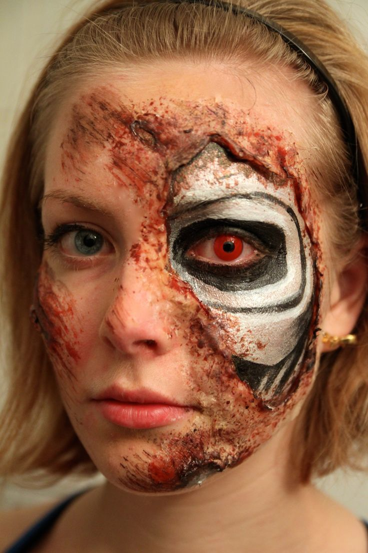 Terminator/Robot/Android Special effects makeup video tutorial at ...