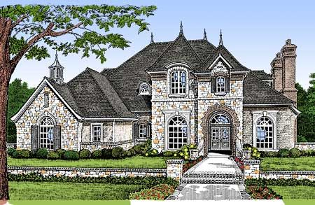 Plan 48001Fm: Majestic European House Plan | House Plans, French