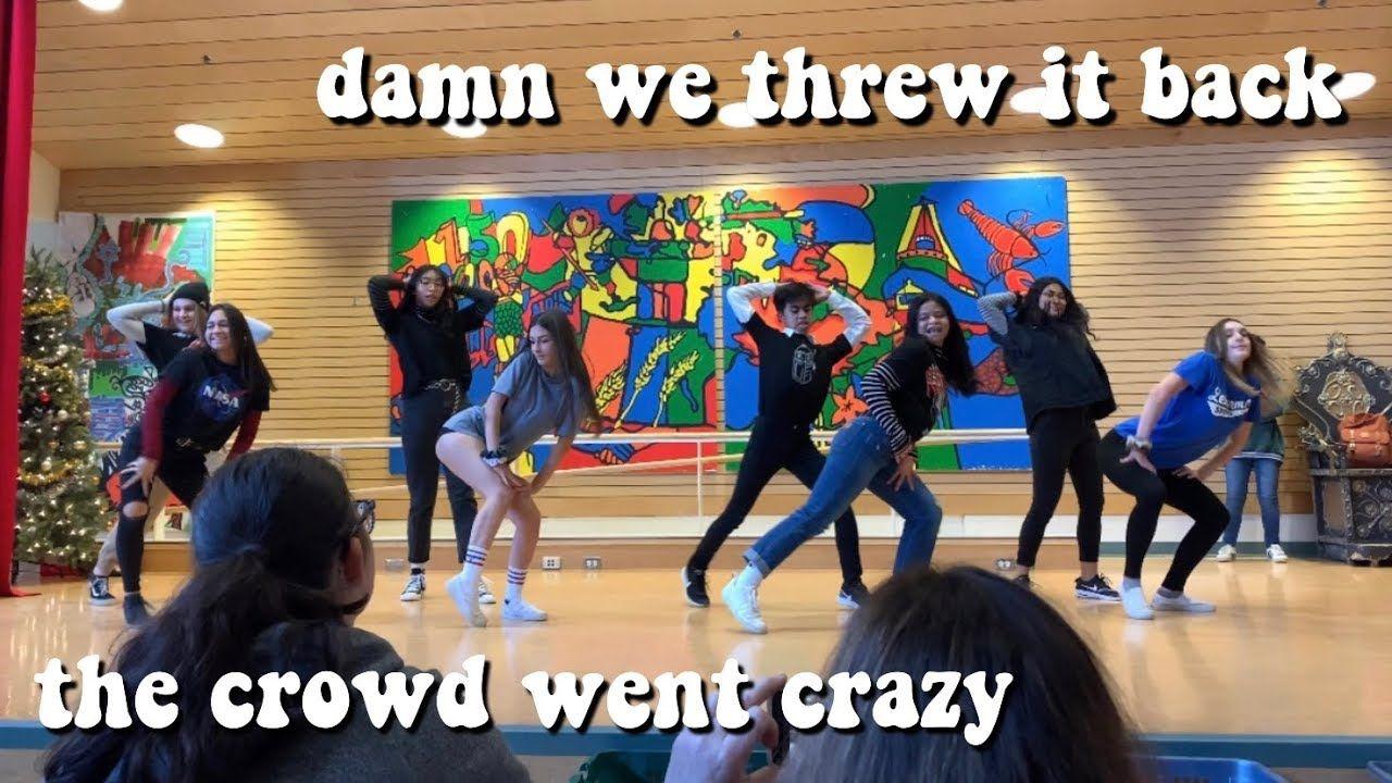 tik tok dance challenge in front of school (we won