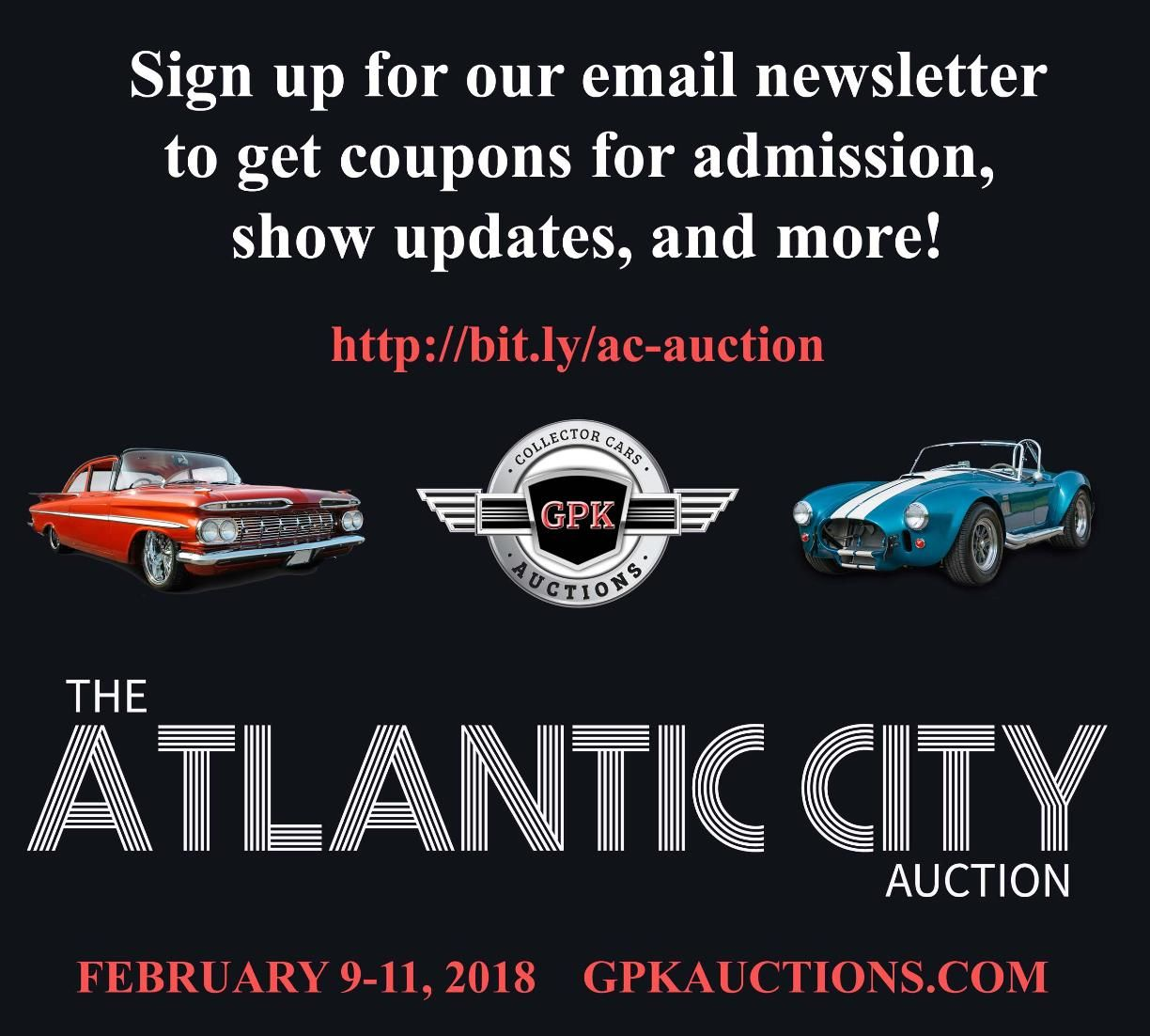 Sign Up For Emails To Get Coupons For Admission Show Updates And More Http Bit Ly Ac Auction Atlantic City Email Form Auction