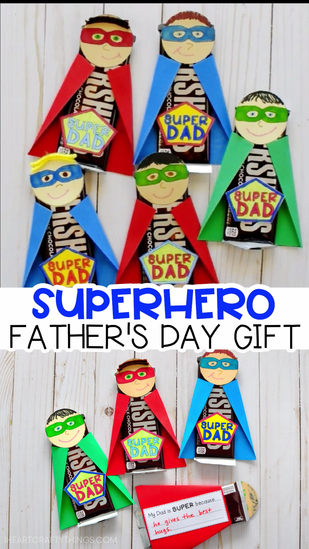 How to Make a Superhero Father's Day Gift #superherocrafts