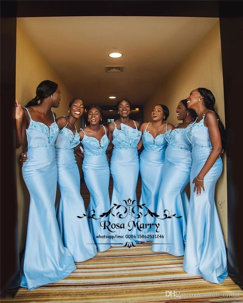 Ice Blue Mermaid African Bridesmaids Dresses 2020 Plus Size Crystals 3d Floral Black Girls Maid Of Honors Wedding Guest Gowns From Sarah Bridal 115 24 Dhgat Wedding Guest Gowns African Bridesmaid Dresses Bridesmaid Dresses [ 1000 x 800 Pixel ]