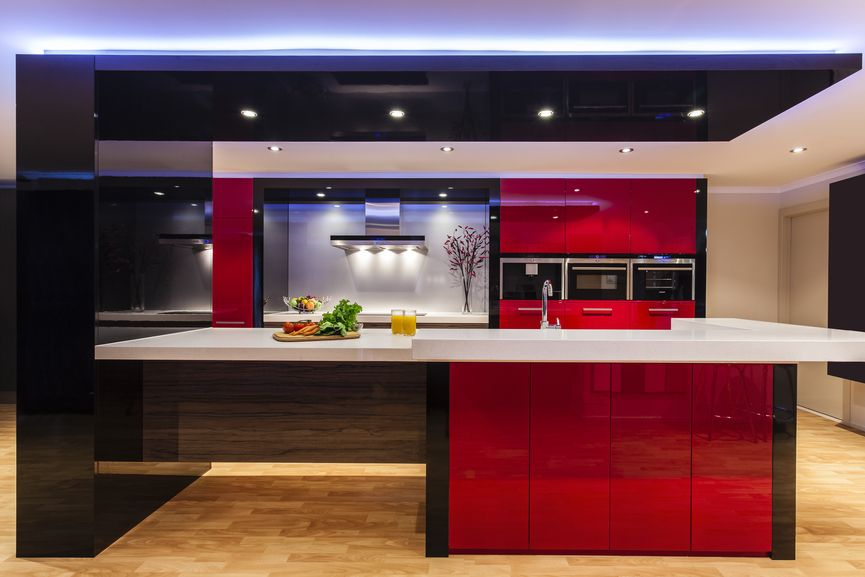 11 Red Black And Grey Kitchen Ideas Red Kitchen Kitchen Design Black And Grey Kitchen