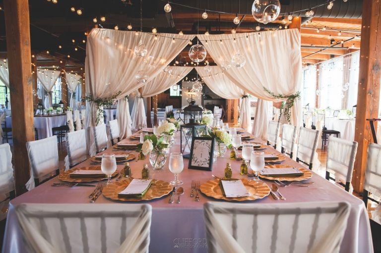 Mill Wedding At La Piece The Room Wedding Reception Centerpieces Wedding Wedding Decorations