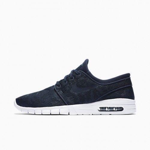 515a56d9aa8 Nike SB Stefan Janoski Air Max Skate Shoes Mens 12 Obsidian White 631303  447  Nike