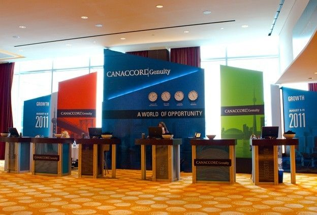Exhibition Stand Reception : Canaccord genuity growth conference registration