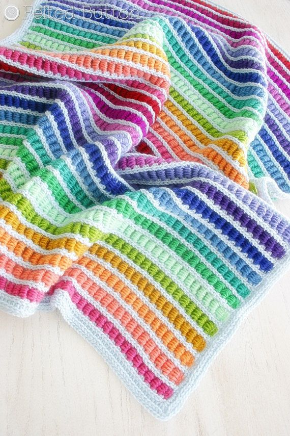 """These nifty little """"mock bullion"""" stitches in rainbow hues definitely remind me of those colorful wooden math helpers you find in children's school"""