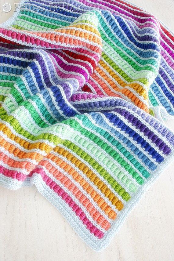Crochet Pattern Abacus Blanket Baby Afghan Throw Decke