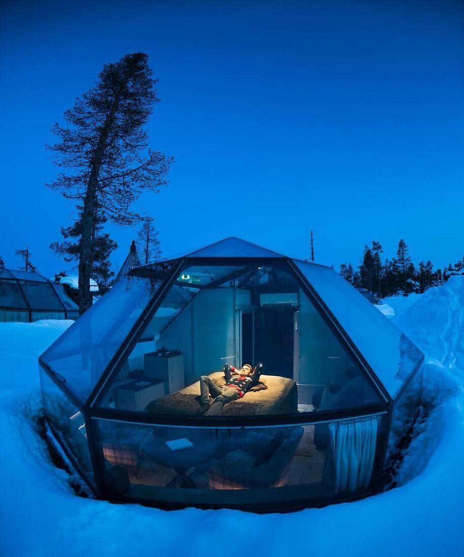 Glass Igloos Hotel Resort In Finland