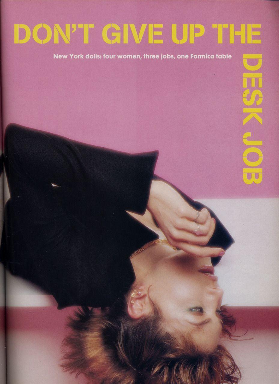 "thefacearchive: "" The Face Magazine: April, 1995. """