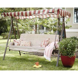 garden treasures porch swing lowes com