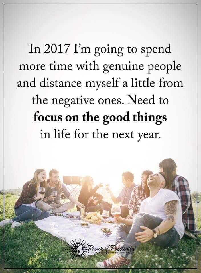 In 2017 I'm going to spend more time with genuine people