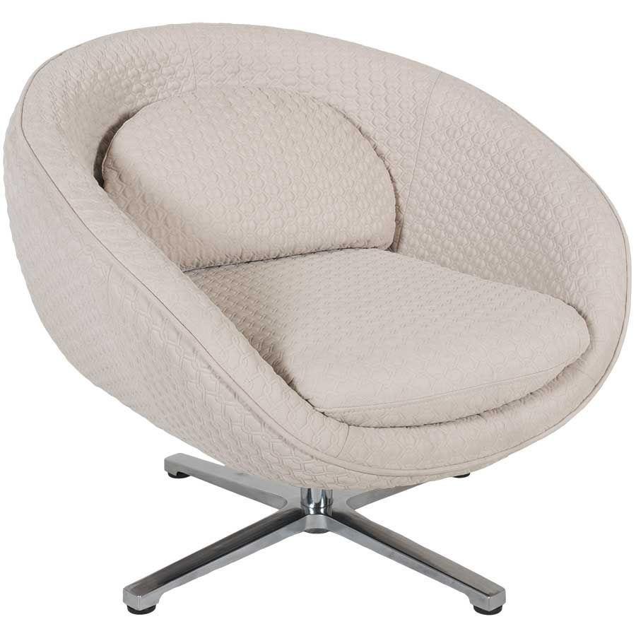 Luna White Swivel Chair 1A-568L