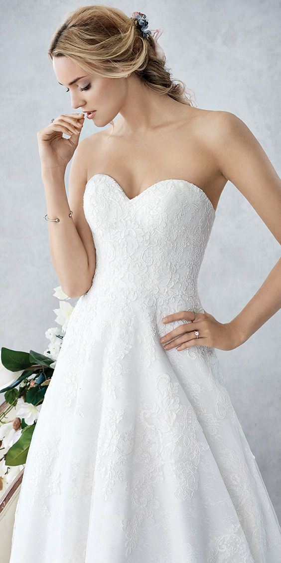 Ella Rosa BE436 | simple lace ball gown | sweetheart neckline ...