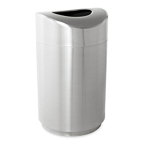 Rubbermaid Commercial Fgr2030sspl 30 Gallon Eclipse Round Open Top Steel Trash Can Diy Waste Receptacle Trash Can Rubbermaid