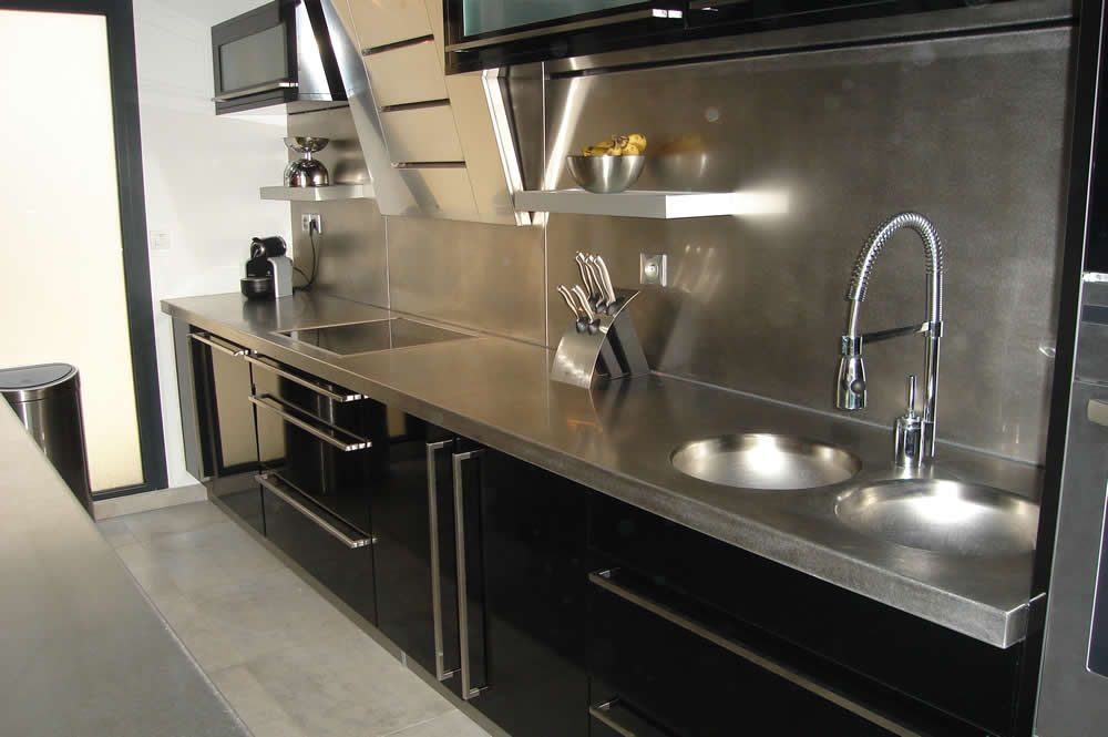 image result for meuble de cuisine et cr dence en aluminium living pinterest cr dence. Black Bedroom Furniture Sets. Home Design Ideas