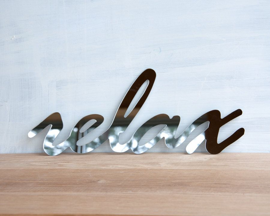 Relax Wall Decor Wall Decor Mirror Word Relax Handwriting Typography On Relax Poster Products