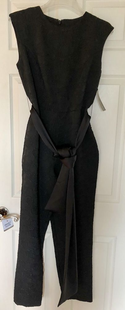 d280b2c904b New York   Company Eva Mendes Black Jacquard Belted Jumpsuit 6 NWT  fashion   clothing  shoes  accessories  womensclothing  jumpsuitsrompers (ebay link)