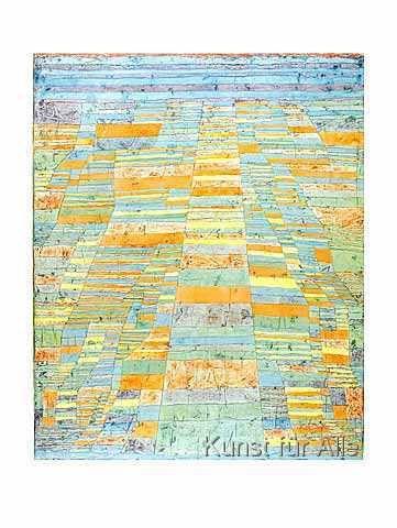 Leinwandbild Hauptweg und Nebenwege Paul Klee