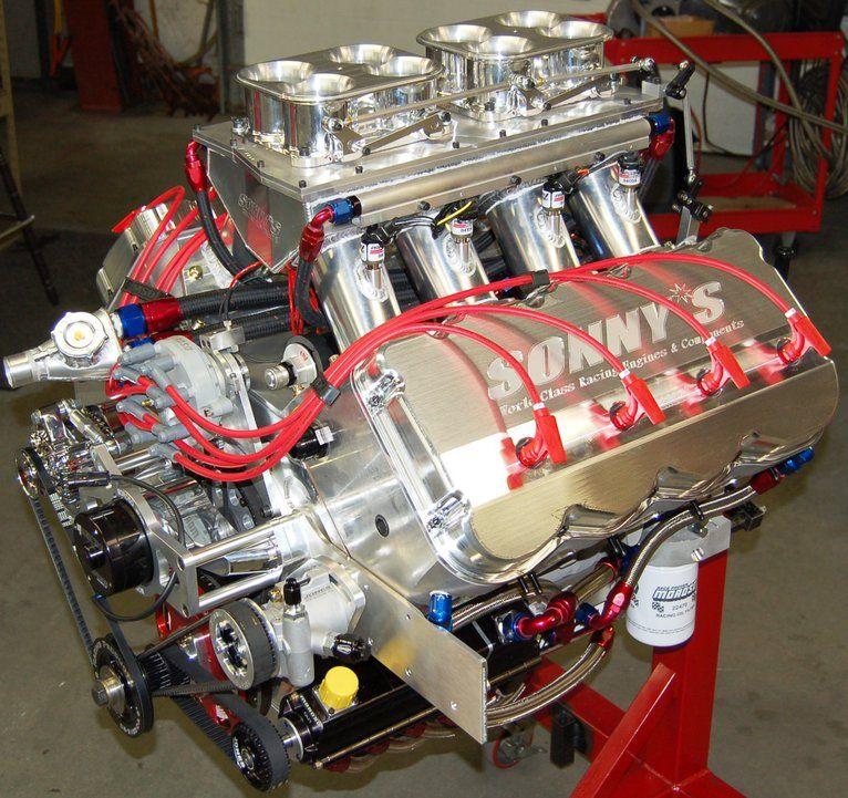 SONNY'S 805 CU  IN  HEMISPHERICAL HEADED PUMP GAS ENGINE