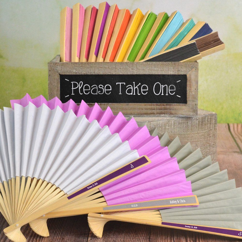 Reception Ceremony Held: Personalized Paper Folding Hand Fan Favors