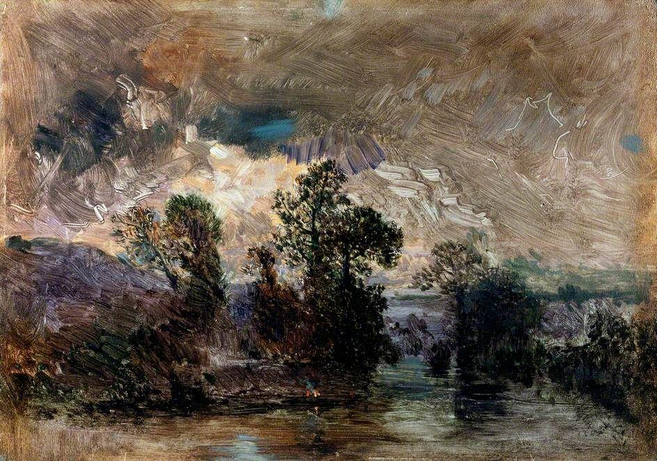 Théodore Rousseau - Paysage avec un ciel orageux