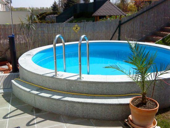 pin de chicho cerna en jardin pool im garten pool ideen y pool gartenbau. Black Bedroom Furniture Sets. Home Design Ideas