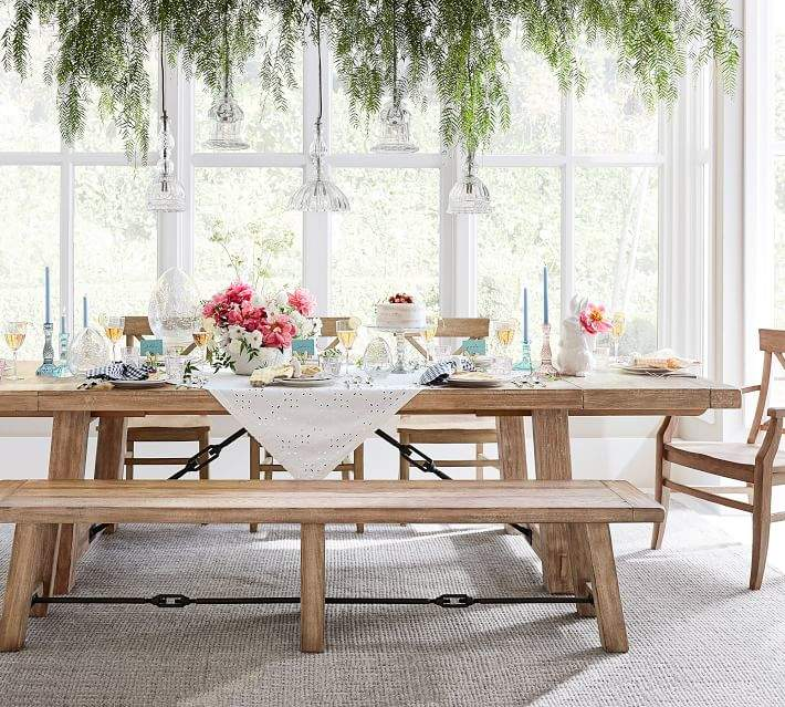 Benchwright Extending Dining Table, Seadrift. Inspired With Scandinavian Dining  Area Home Style Interior Design