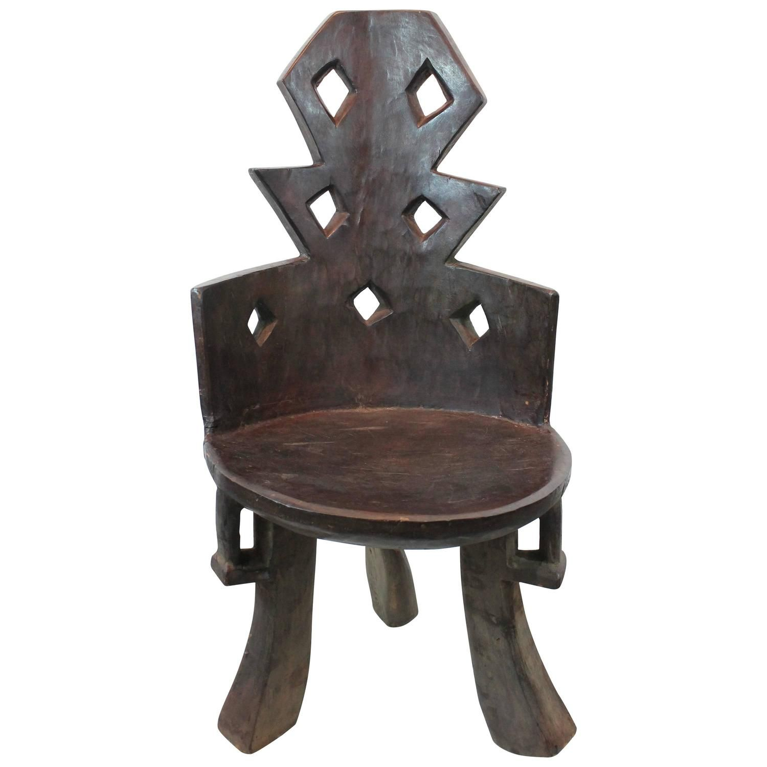Ethiopian angular carved chair homes pinterest interiors