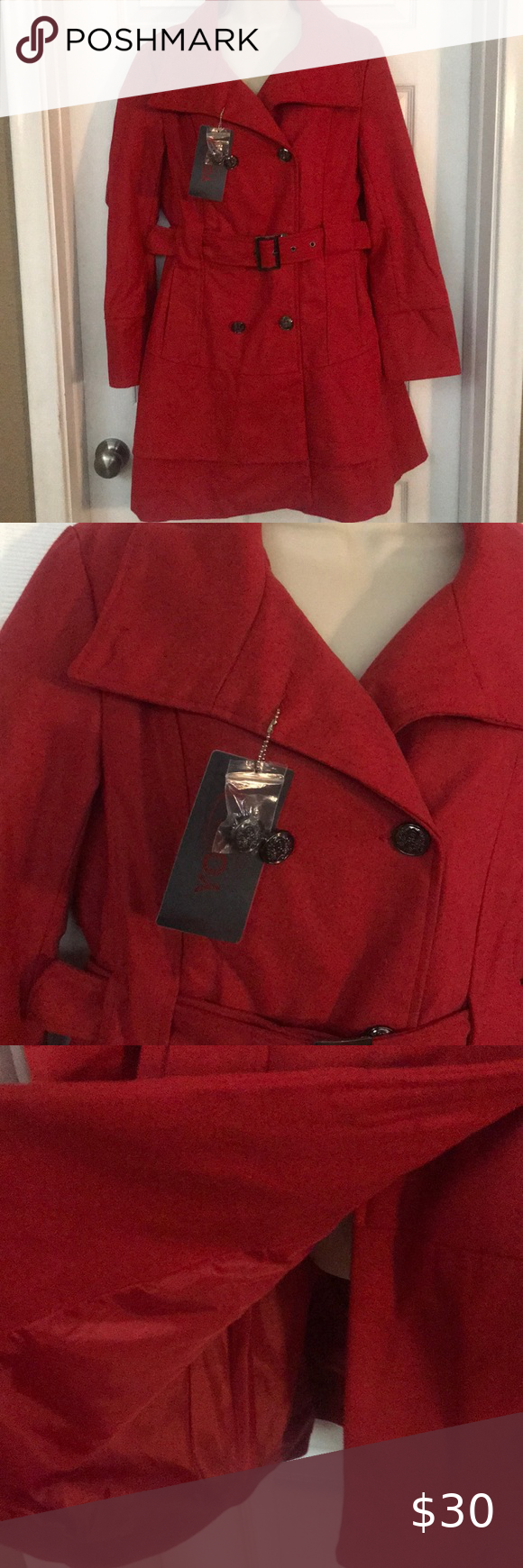 Nwt Yoki Outerwear Collection Xl Nwt Red Size Xl Length Top To Bottom 40 Arm Length 25 Waist 17 Yoki Jackets Coats Pea Coats In 2020 Outerwear Peacoat Yoki [ 1740 x 580 Pixel ]