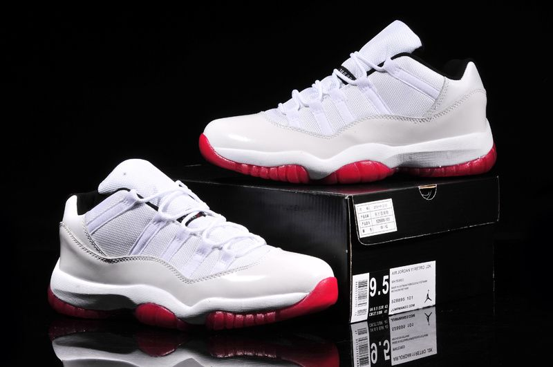 TOP AAA+ Air Jordan 11 Low White/ Red from www.dragonkicks.us