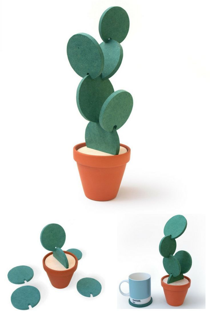 Don\'t store your coasters away use them to make a Cactus! Recreate ...
