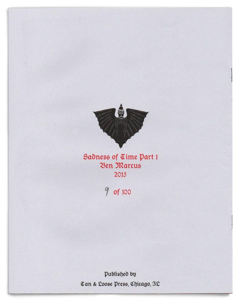 Tan & Loose Press — Sadness of Time (Part 1) by Ben Marcus