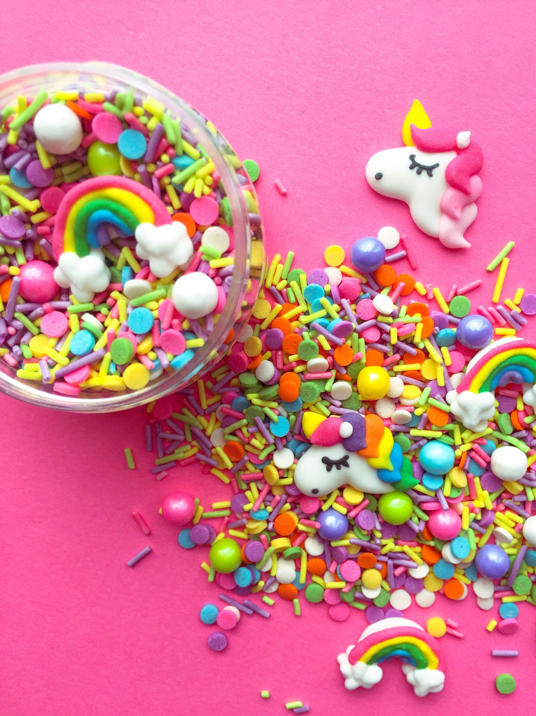 Pin by Krista on rainbow | Unicorn sprinkles, Rainbow