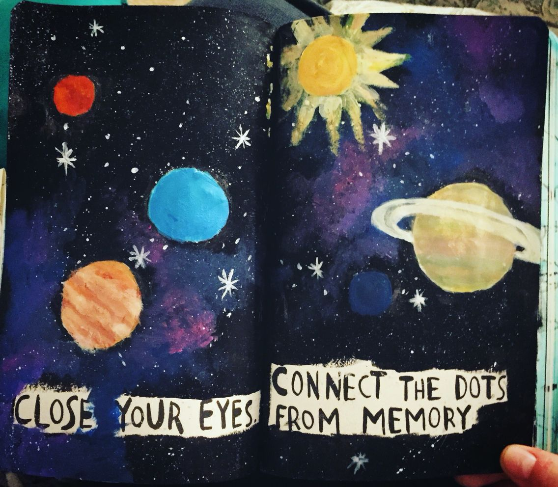 wreck this journal page stars connect the dots the artist within