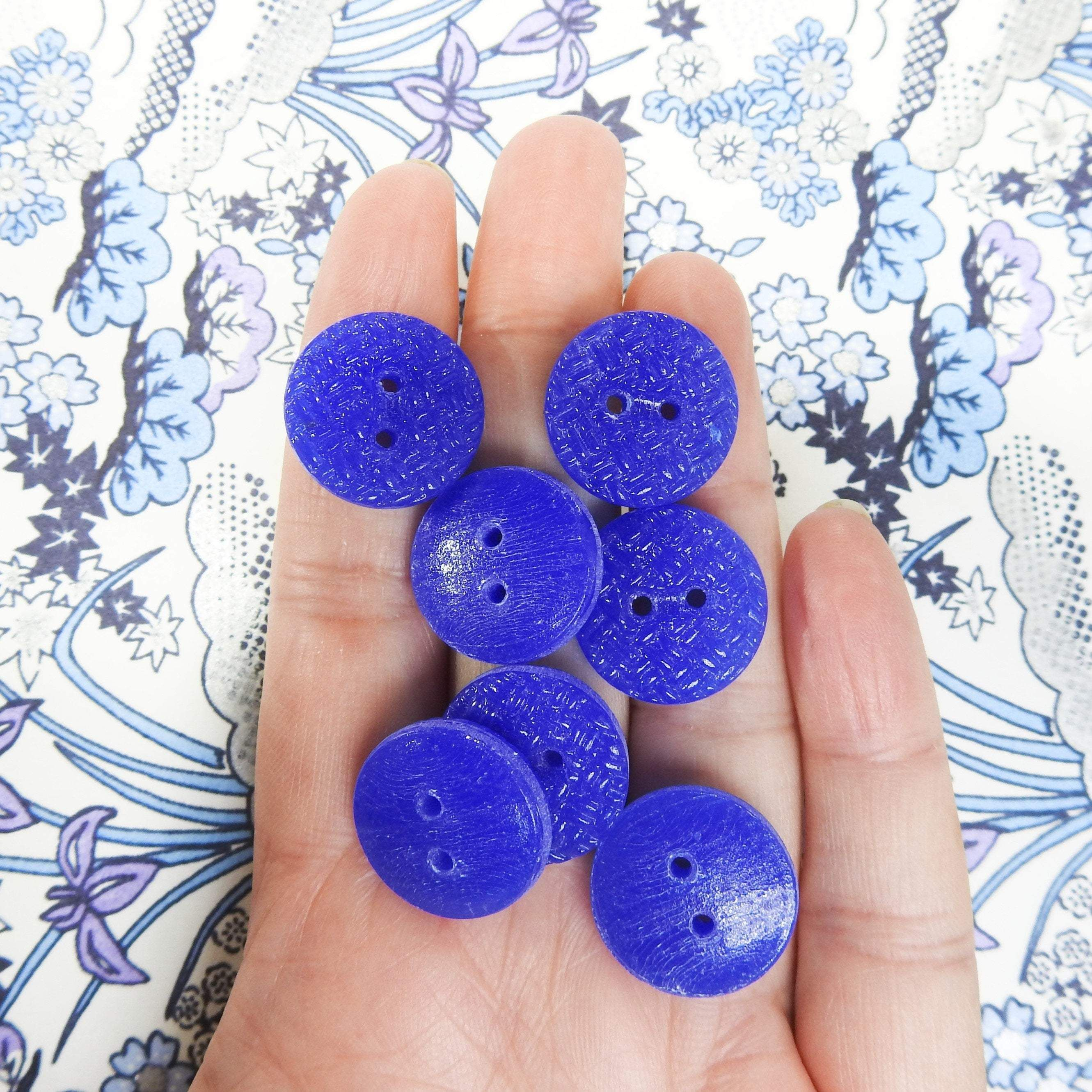 Photo of Blue buttons vintage