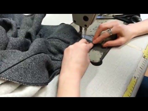 Kurs szycia - wszycie ekspresu do bluzy z dzianiny DIY sewing course zipper for sweatshirts - YouTube