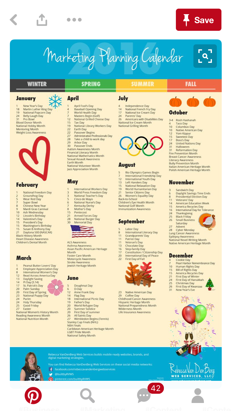 Pin By Arianna Cagli On Marketing Marketing Planning Calendar