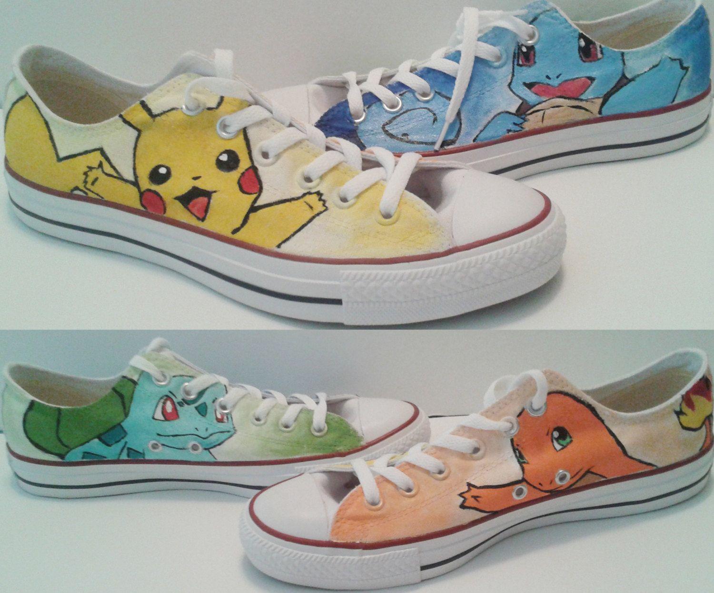Pokemon Converse Shoes (Pikachu