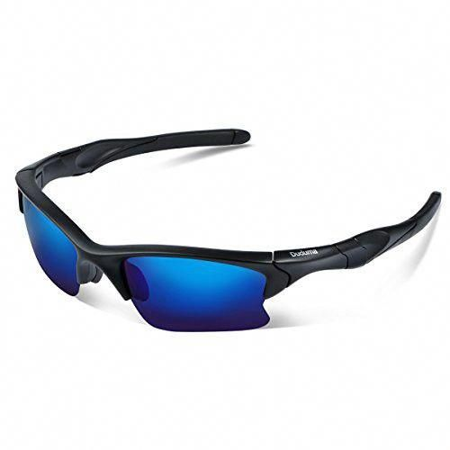 4206f07f596 Duduma Polarized Sports Sunglasses for Men Women Baseball Fishing Golf  Running Cycling Driving Softball Hiking Floating Unbreakable Shades  Tr566(Matte black ...