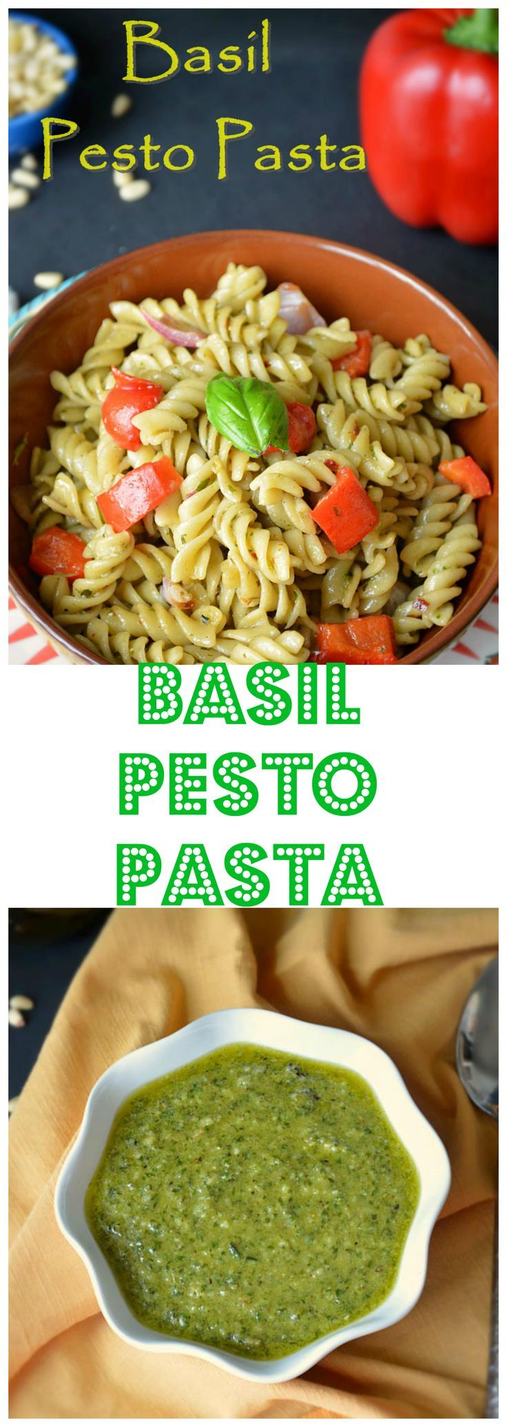 Enjoy This One Pot Meal Prepared With Homemade Basil Pesto And Combined With Caramelized Onion And Red Pesto Pasta Recipes Basil Pesto Pasta Recipe Pesto Pasta