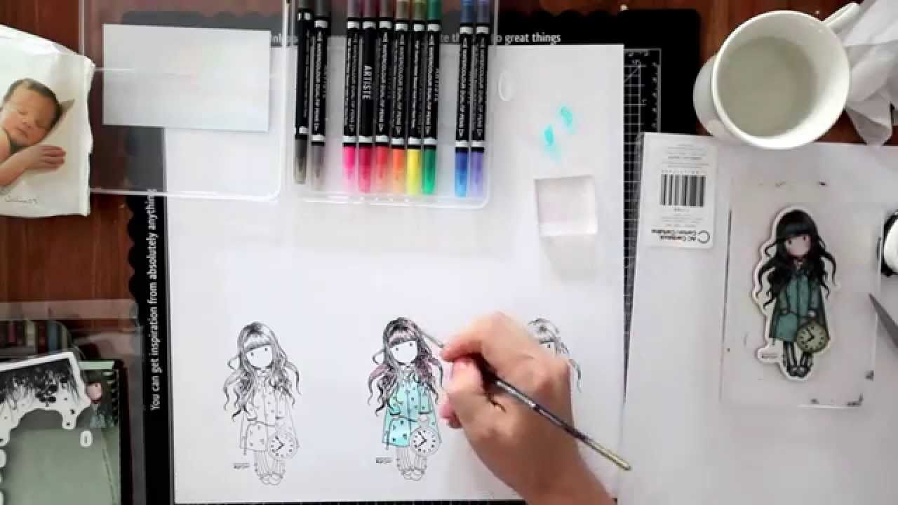 Artiste Watercolor Markers Tutorial Docrafts Part 1 Pen And